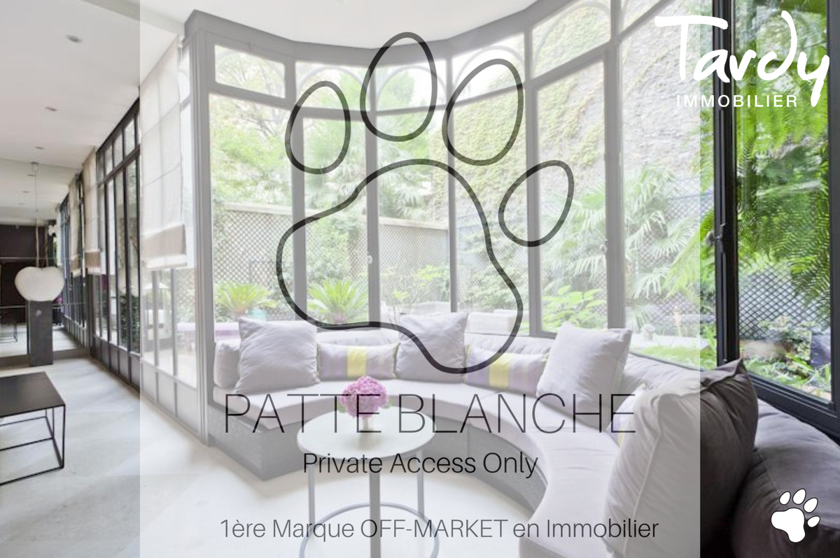 Hotel particulier Paris 16. - Paris 16ème - PATTE BLANCHE - Hotel particulier Paris 16è - TARDY IMMOBILIER
