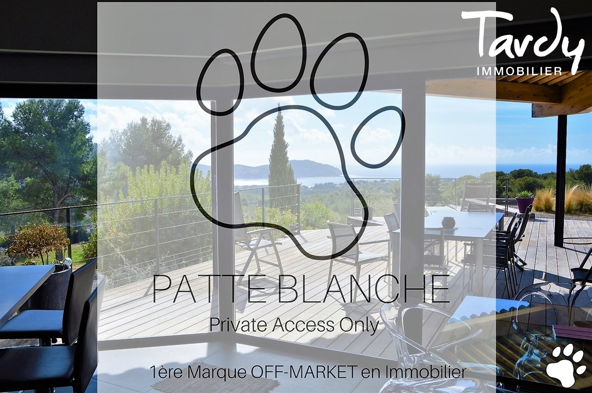 Villa Sauzet vue mer sur grand terrain plat à La Cadière d'Azur - La Cadière-d'Azur - La Cadière d'Azur Collection PATTE BLANCHE