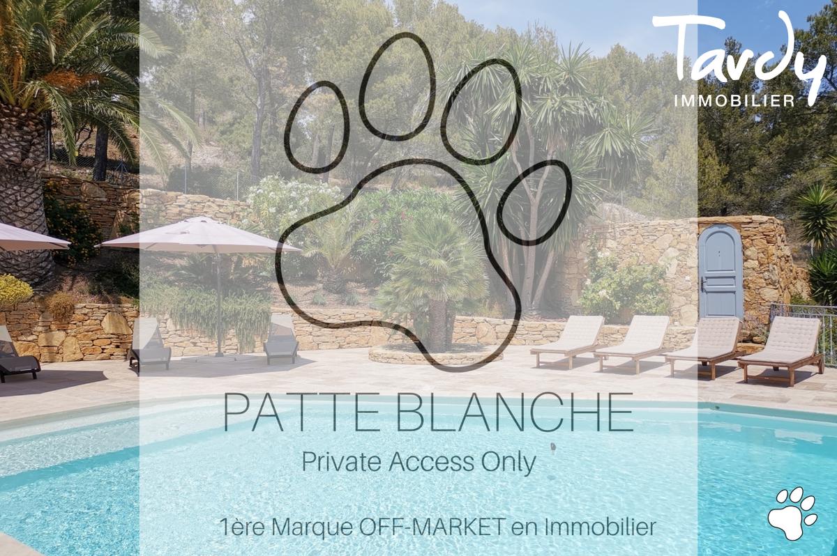 Villa de charme avec vue mer - 83150 Bandol - Bandol - Tardy Immobilier créé Patte Blanche