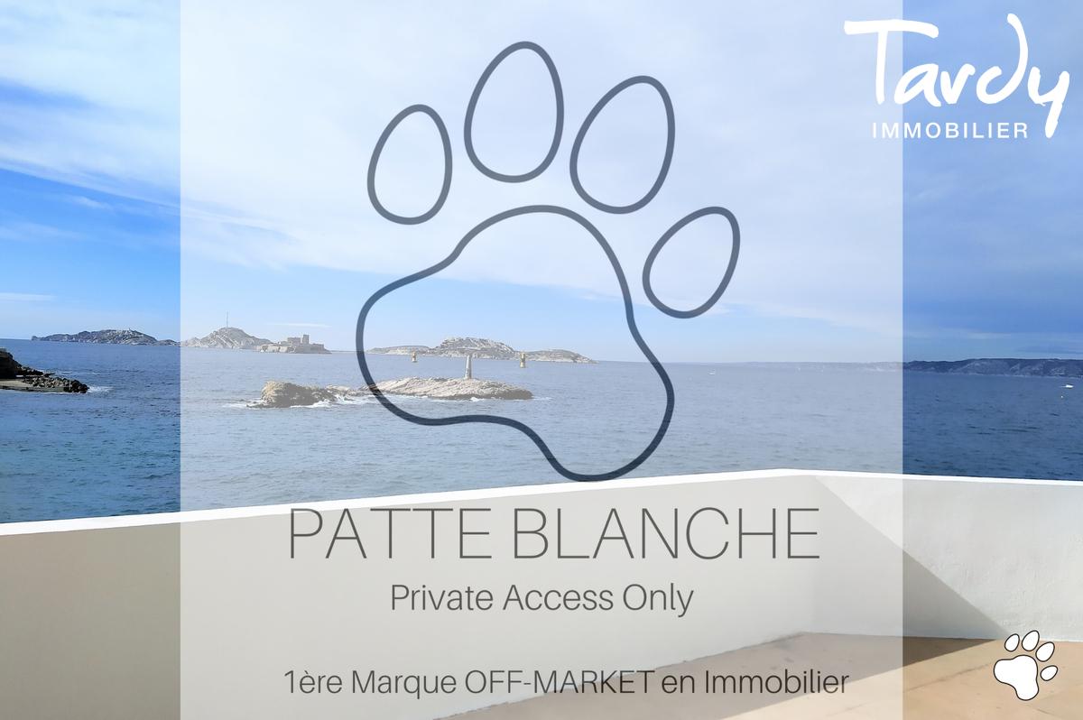 Villa pieds dans l'eau - 13007 Marseille Malmousque - Marseille 7ème - Malmousque Tardy PATTE BLANCHE