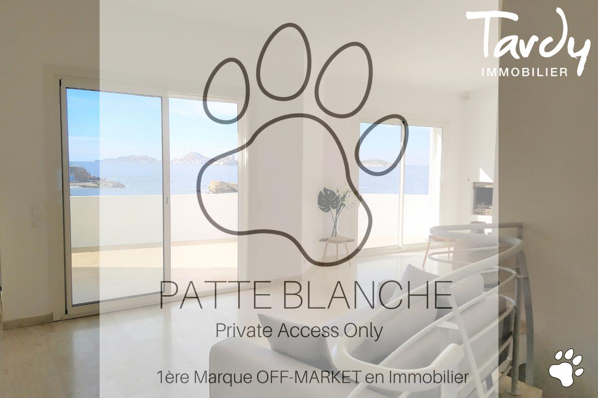 Villa pieds dans l'eau - 13007 Marseille Malmousque - Marseille 7ème - Vue mer PATTE BLANCHE TARDY