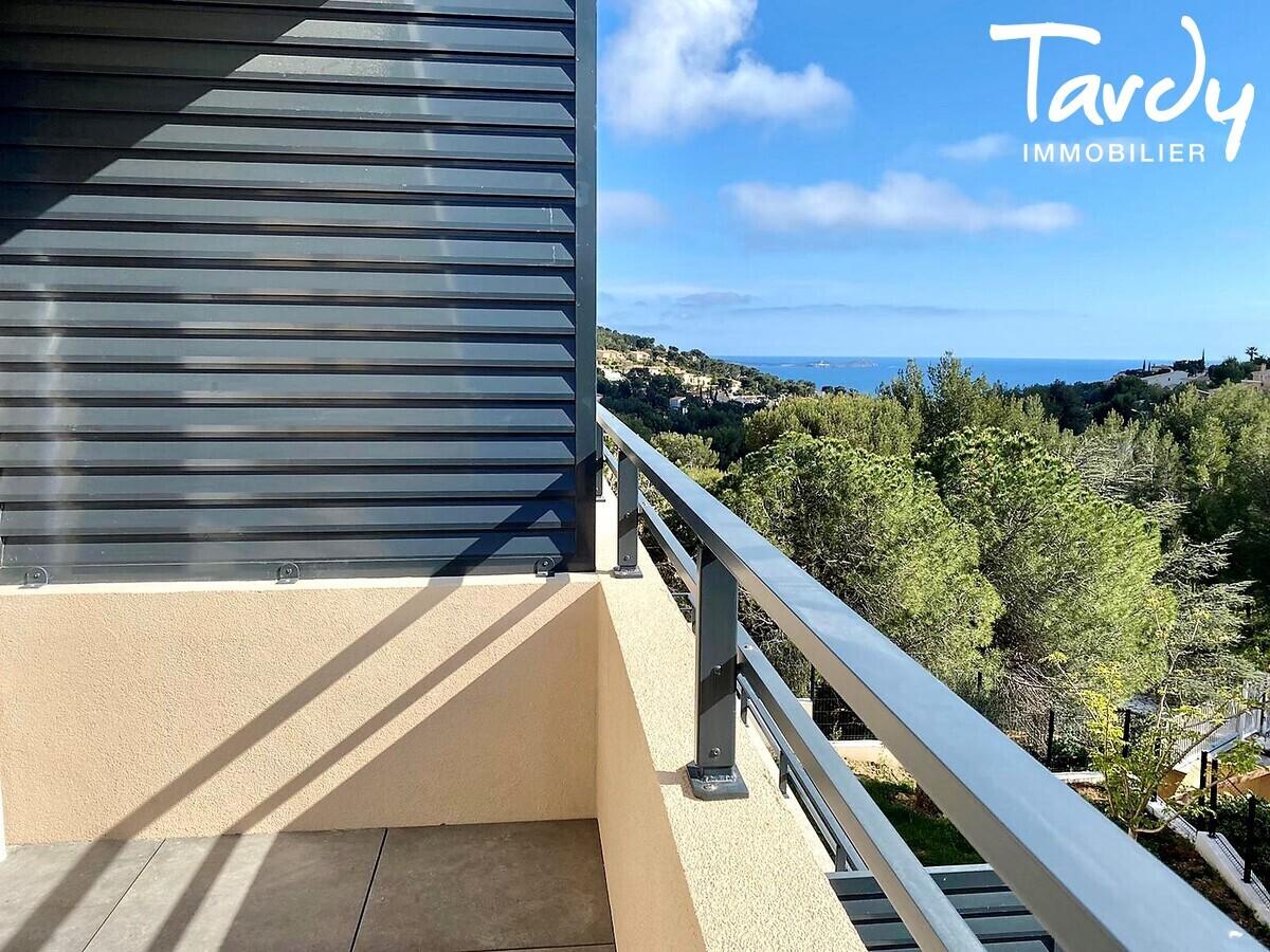 Appartement NEUF Contemporain - comme une villa - Bandol 83150  - Bandol - Petite vue Mer