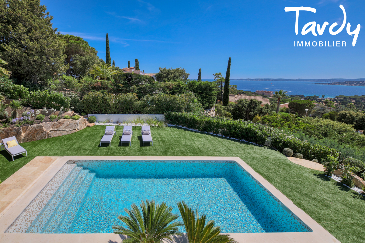 Villa  neuve contemporaine vue mer 83380 LES ISSAMBRES - Les Issambres - Luxury real estate sea view Côte d'Azur